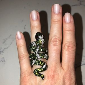 Alice and Olivia embellished snake ring.
